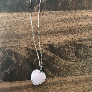 Jewelry - Pink crystal heart necklace